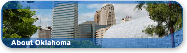 About Oklahoma section banner with photo of downtown Oklahoma City.